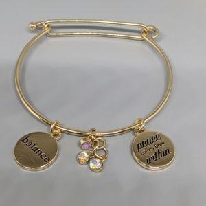 14 k gold plated bracelet POSITIVE ENERGY